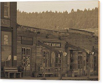 Gypsy Arcade Wood Print by Robert  Torkomian