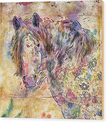 Gypsy Babe Wood Print by Marilyn Sholin