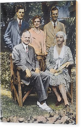 H. Hoover And Family Wood Print by Granger