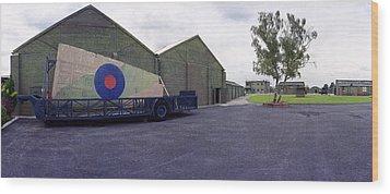 H-p Hastings Wing Raf Elvington Wood Print by Jan W Faul