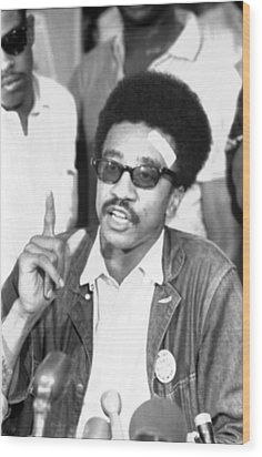 H. Rap Brown, Chairman Of The Student Wood Print by Everett