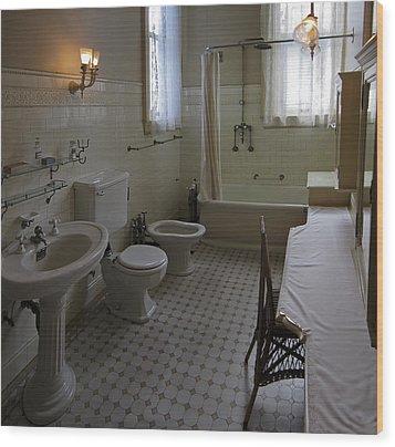 Haas Lilienthal House Victorian Bath - San Francisco Wood Print by Daniel Hagerman