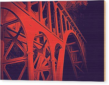 Haceta Head Bridge Wood Print