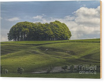 Wood Print featuring the photograph Hackpen Hill by Clare Bambers