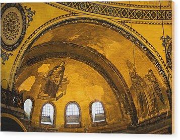 Hagia Sophia Architectural Details Wood Print by Artur Bogacki