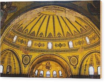 Hagia Sophia Architecture Wood Print by Artur Bogacki