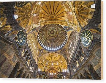 Hagia Sophia Byzantine Architecture Wood Print by Artur Bogacki