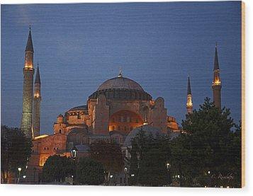 Hagia Sophia Wood Print by Cheri Randolph