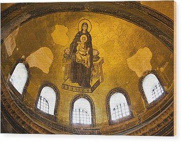 Hagia Sophia Mosaic Wood Print by Artur Bogacki