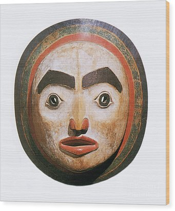 Haida Moon Mask Wood Print by Photo Researchers