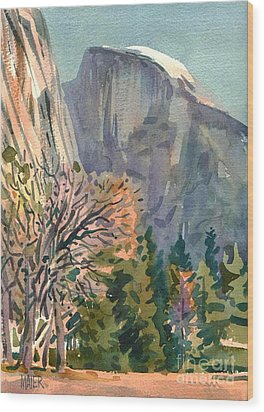 Half Dome Wood Print by Donald Maier