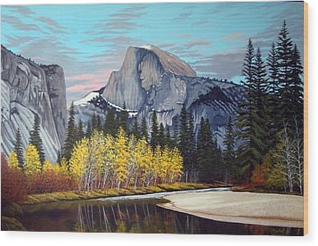Half-dome Wood Print by Rick Gallant