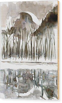 Half Dome Winter Wood Print by Carol A Marcus