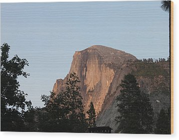 Half Dome Yosemite National Park Wood Print by Remegio Onia