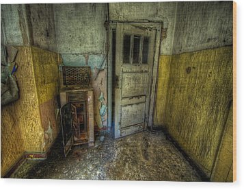 Half Yellow Wood Print by Nathan Wright
