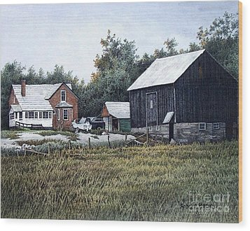 Haliburton Farm Wood Print