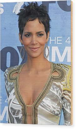 Halle Berry Wearing An Emilio Pucci Wood Print by Everett