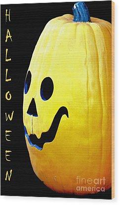 Halloween 1 Wood Print by Maria Urso