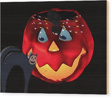 Halloween Fun Art Wood Print by Debra     Vatalaro