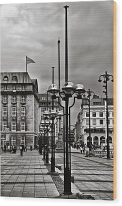 Wood Print featuring the photograph Hamburg Walk by Edward Myers
