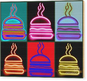 Hamburgers  Wood Print by France Laliberte