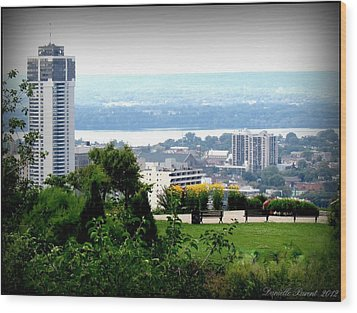 Wood Print featuring the photograph Hamilton Downtown View From  by Danielle  Parent