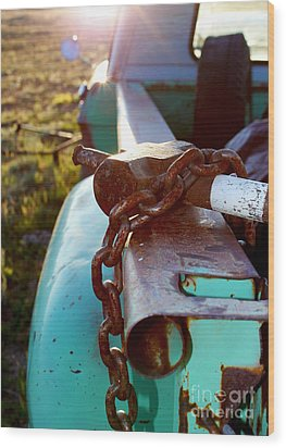 Hammer Chain And Truck Wood Print by Wesley Hahn