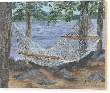 Hammock At Bear Island Wood Print