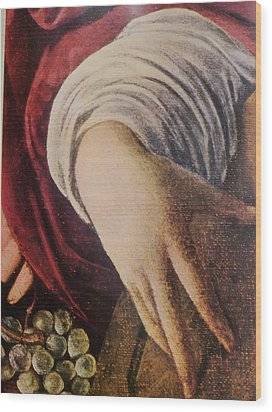 Hand Of The Lute Player From The Musicians Caravaggio Wood Print by Jake Hartz