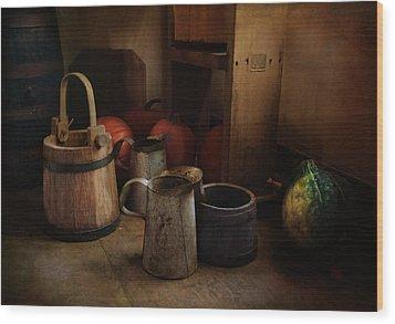 Handmade And Homegrown Wood Print by Robin-Lee Vieira