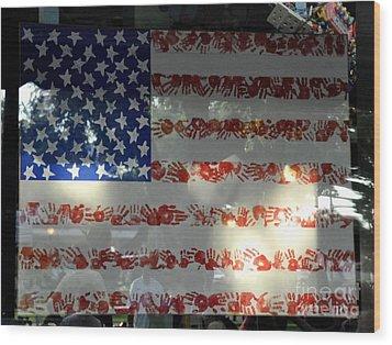 Hands Across America Wood Print by John Black