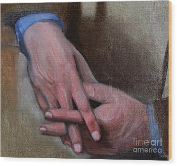 Hands In Oils Wood Print by Kostas Koutsoukanidis