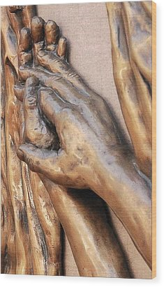 Hands Of Faith Wood Print by David Schmerer
