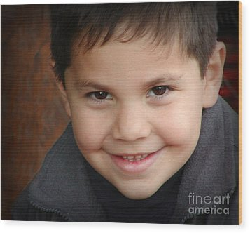 Handsome Boy Wood Print