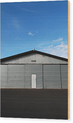 Wood Print featuring the photograph Hangar 2 by Kathleen Grace