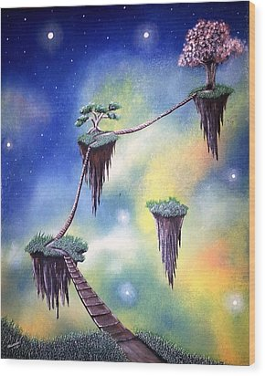 Hanging Together Wood Print by Edwin Alverio