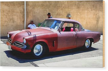 Hanging With My Buddy . 1953 Studebaker .  5d16513 Wood Print by Wingsdomain Art and Photography