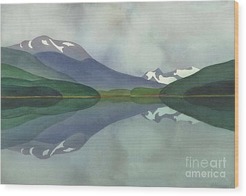 Hankin Lake Wood Print by Anne Havard