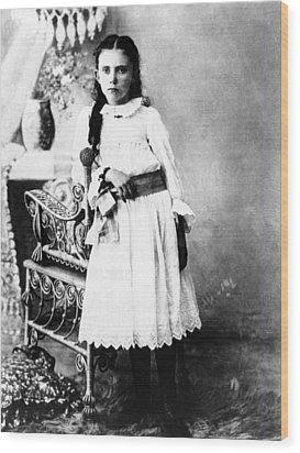 Hannah Milhaus At The Age Of 10. The Wood Print by Everett