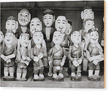Hanoi Water Puppets Wood Print by Shaun Higson