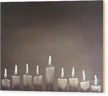 Hanukkah Wood Print by Annemeet Hasidi- van der Leij