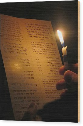 Hanukkah By Candlelight Wood Print by Tia Anderson-Esguerra