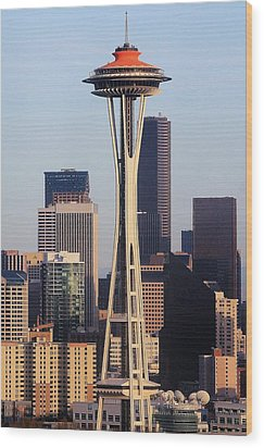 Happy 50th Space Needle Wood Print by Benjamin Yeager