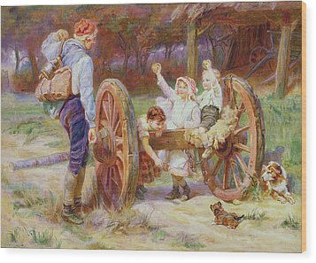 Happy As The Days Are Long Wood Print by Frederick Morgan