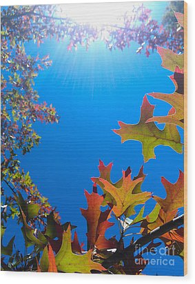 Happy Autumn Wood Print by CML Brown