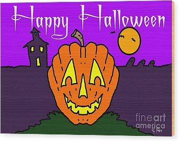 Happy Halloween 2 Wood Print by George Pedro