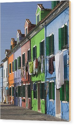 Wood Print featuring the photograph Happy Houses by Raffaella Lunelli