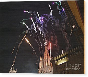 Wood Print featuring the photograph Happy New Year by John  Kolenberg