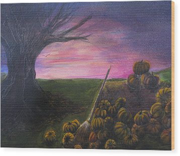 Happy Samhain Wood Print