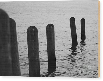 Wood Print featuring the photograph Harbor Ties by Tony Cooper